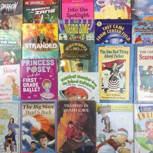 Children's Books Early Middle School Lot of 21.
